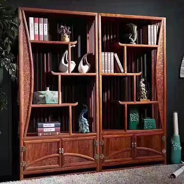 现代中式红木书架