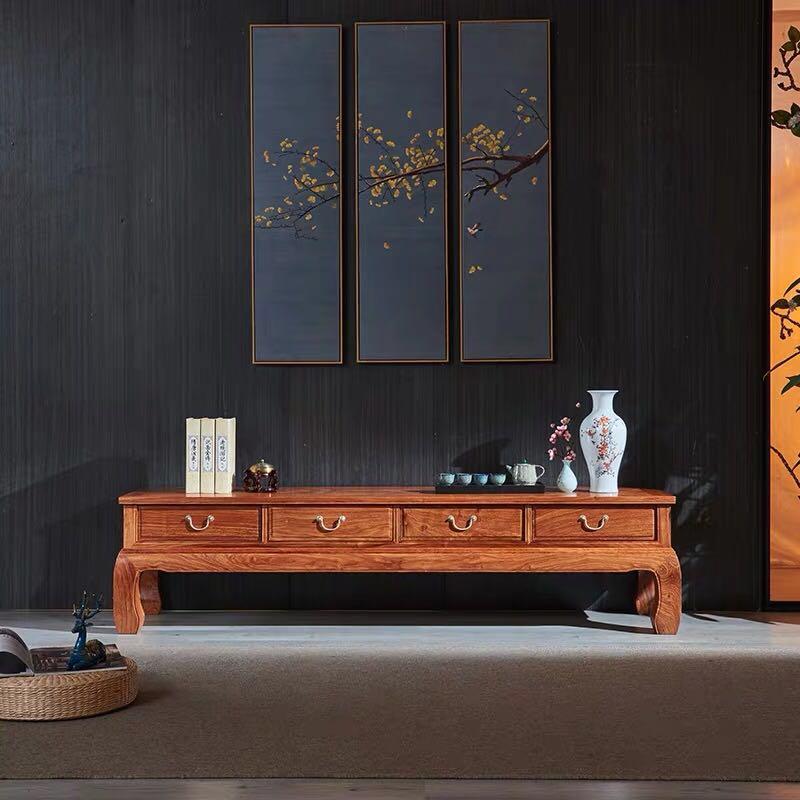 现代中式红木电视柜