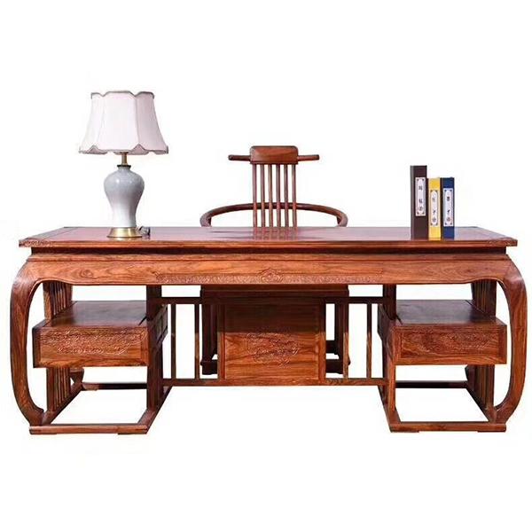 红木办公桌组合