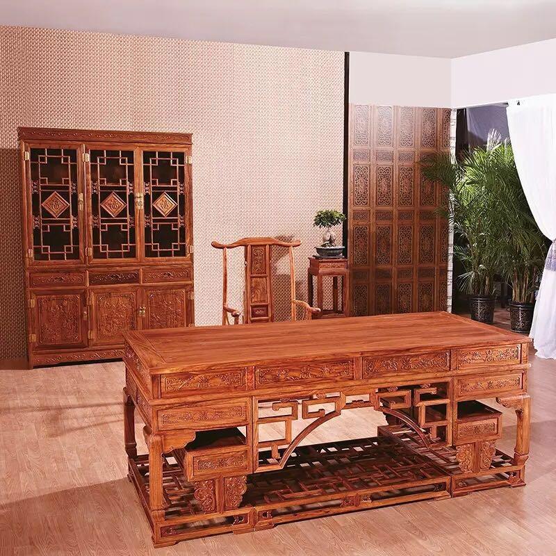 红木办公家具书桌