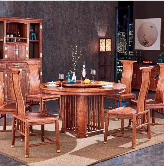 现代中式红木餐桌