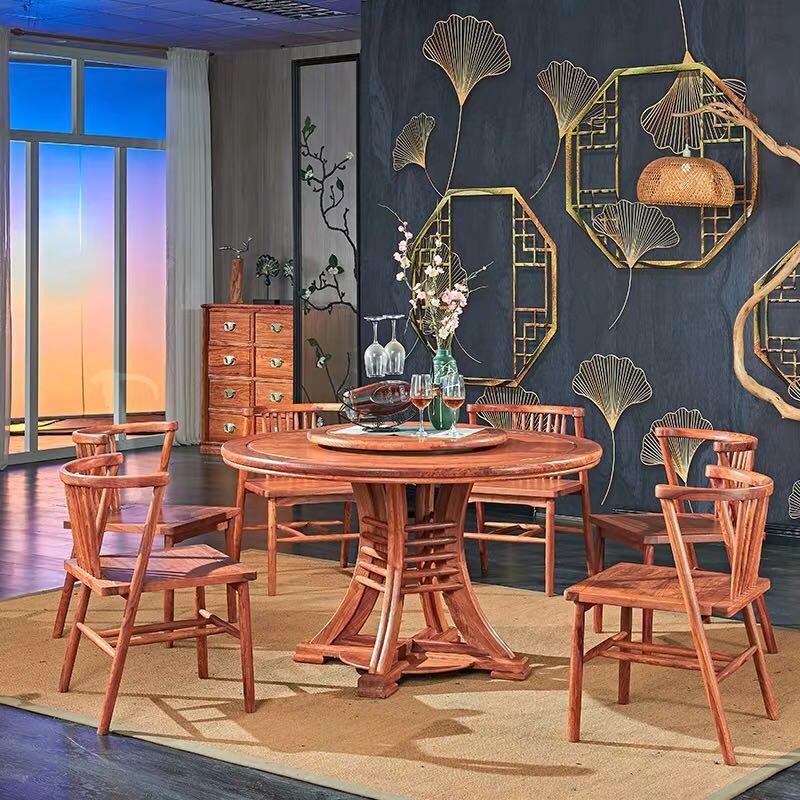 现代中式红木餐桌组合套装