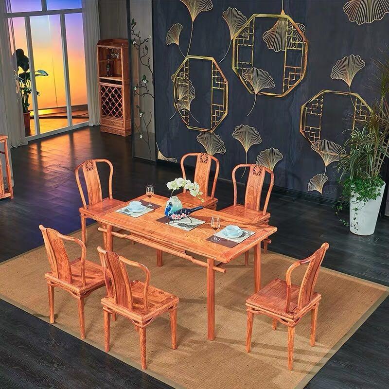 现代中式红木餐桌组合