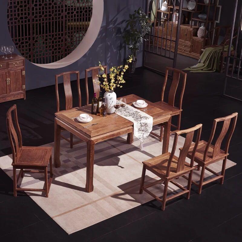 新中式红木餐桌
