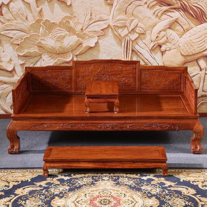 明式红木床