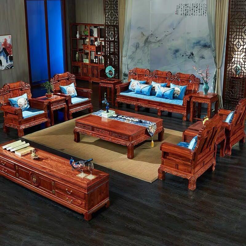 红木沙发组合