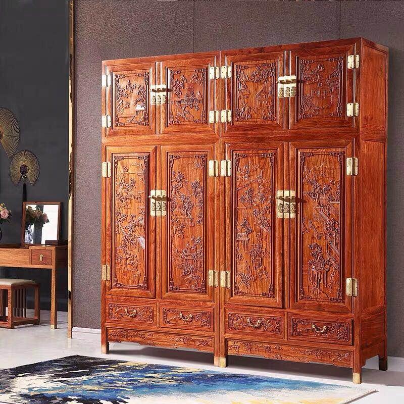 现代中式红木衣柜