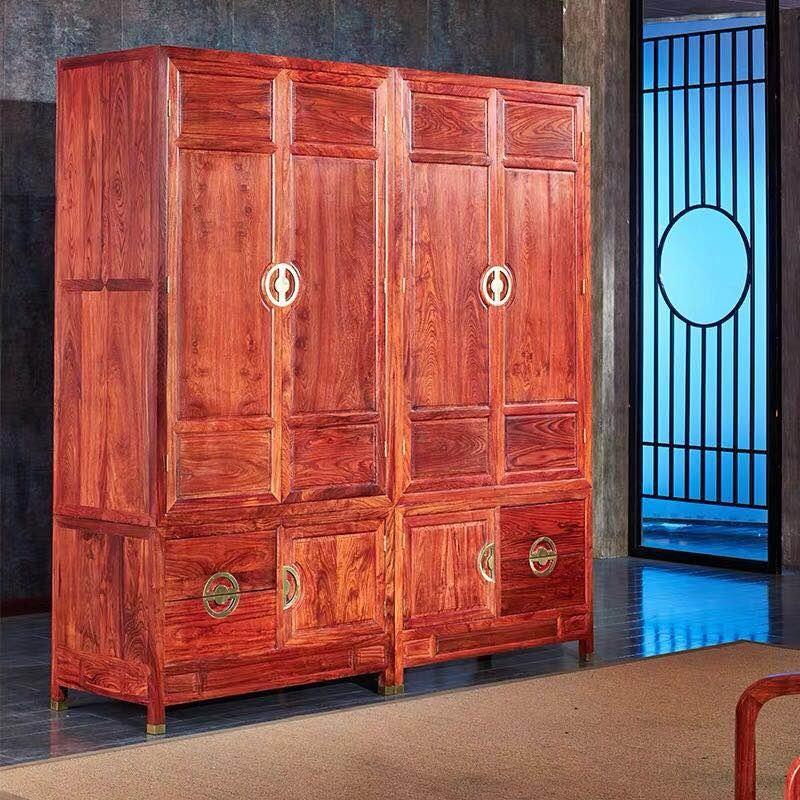 红木实木衣柜